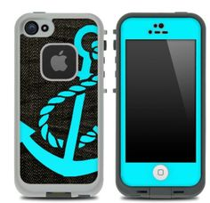 Dark denim and blue anchor life proof case. AMAZING!!