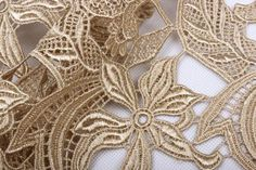 Daffodil Venise Lace Fabric Flower Lace Fabric Sewing Fabric for Dress Gold Lace Fabric, Fabric Flowers, Sewing Lace, Wedding Fabric, Girl Blog, Antique Lace, Sewing For Beginners, Lace Weddings, Embroidered Lace