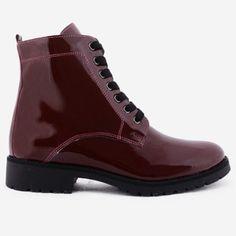 Ghete bordo din piele naturala Lorena Dr. Martens, High Tops, Combat Boots, High Top Sneakers, Shoes, Fashion, Moda, Zapatos, Shoes Outlet