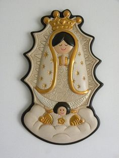 Your place to buy and sell all things handmade Holly Images, Newborn Room, Ceramic Figures, Non Toxic Paint, First Communion, Our Lady, Virgin Mary, Memorial Day, House Warming