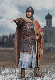 Grand Prince Alexander Nevsky by Novikova Svetlana Medieval World, Medieval Knight, Skins Characters, Grand Prince, Art Of Fighting, Warrior King, Russian Orthodox, Arm Armor, Anglo Saxon
