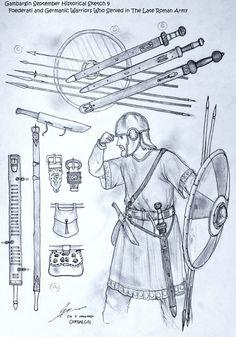 Foederati and The Germanic Warriors Under Rome by Gambargin on @DeviantArt