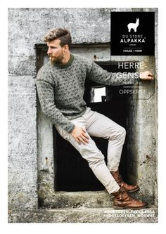 Tradisjonsbærer i tweed S-XXL Jumper Knitting Pattern, Hand Knitting, Hand Knitted Sweaters, Mens Jumpers, Sweater Design, Knit Patterns, Norway, Tweed, Knit Crochet