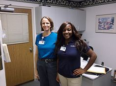 Photo of the week! Sodexo Intern Deletra Harmon takes a break to pose with a unit manager.