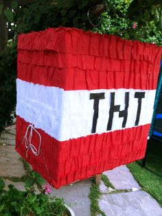 Minecraft TNT Pinata by pourinmags on Etsy, $25.00