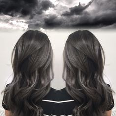 Charcoal Gray Hair Color by Janai Hartt , . Smoky Charcoal Gray Hair Color by Janai Hartt , Smoky Charcoal Gray Hair Color by Janai Hartt , Charcoal Hair, Dark Grey Hair Charcoal, Dark Grey Hair Color, Black Ash Hair, Dark Ash Brown Hair, Color Black, Colour, Hair Color Balayage, Haircolor