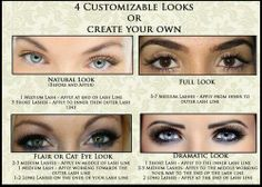 Eyelash extension styles