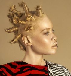 11 Stunning Photos Of Albino Model Diandra Forrest And Her Gorgeous Hairstyles [Gallery]  Read the article here - http://www.blackhairinformation.com/general-articles/playlists/11-stunning-photos-of-albino-model-diandra-forrest-and-her-gorgeous-hairstyles-gallery/