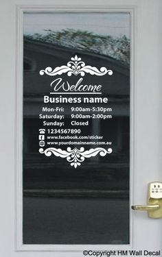 Custom Business Open Hour Sign With Logo Ver Oracal Vinyl - Custom vinyl decal stickers for business