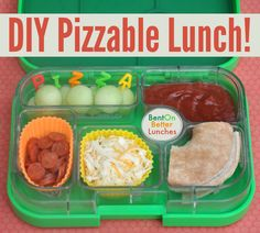 BentOnBetterLunches fantastic DIY Pizzable Lunch