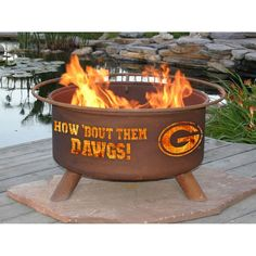 Patina Products F404 University of Georgia Fire Pit - bronze (Steel), Outdoor Décor