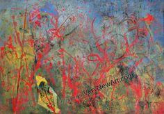 Original Painting of the Artist Mona Fischer; Title: Fieberklee und Blutweiderich  Original Gemälde der Künstlerin Mona Fischer, Titel: Fieberklee und Blutweiderich   #kunst #art #gemaelde #painting
