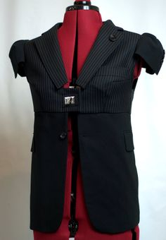 JACKET SIZE-M by jeviev on Etsy. like the high waist line but would have to mess with sleeves??