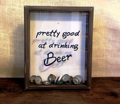 Beer Cap Shadowbox Holder Collector by KatiesSpecialTouch on Etsy