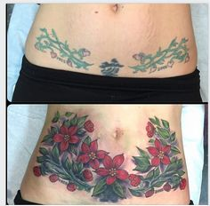 Cover up hip tat flower flores de cerezo. Tattoo Cover Stretch Marks, Cover Tattoo, Rose Tattoos, Flower Tattoos, Small Tattoos, Tatoos, Cover Up Tattoos Before And After, Mens And Health, Flower Tattoo Meanings