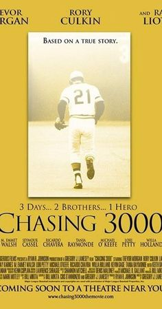 """""""Chasing is a 2008 American independent film chronicling the cross-country travel of two boys to see the base hit of Major League Baseball legend Roberto Clemente. It stars Trevor Morgan, Rory Culkin, Ray Liotta, and Lauren Holly. Internet Movies, Movies Online, Driving Across Country, Rory Culkin, Baseball Movies, Lauren Holly, Ray Liotta, 2 Brothers, Roberto Clemente"""