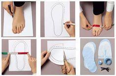 Te enseñamos como hacer patrones para hacer pantuflas para que puedas confeccionarte tu propio calzado.