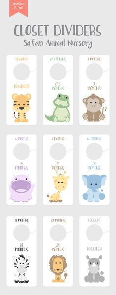 #nursery #nurseryart #nurserydecor #nurseryideas #tiger #alligator #monkey #rhino #hippo #closetorganization