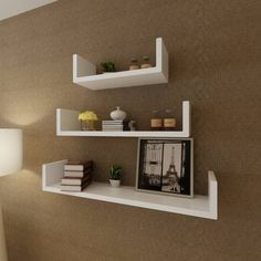 vidaXL Floating Wall Display Shelves MDF U-shaped White Book DVD Storage - 8718475938460 For Sale, Buy from Wall Shelves & Hooks collection at MyDeal for best discounts. Cube Shelves, Small Shelves, Wall Mounted Shelves, Hanging Shelves, Display Shelves, Book Shelves, Dvd Storage, Cube Storage, Storage Shelves