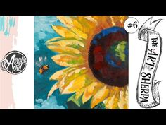 Easy sunflower loose step by step Acrylic April day Acrylic Painting Tutorials, Acrylic Art, Acrylic Paintings, Painting Techniques, Art Bin, The Art Sherpa, Acrylic Painting For Beginners, Paint And Sip, Autumn Painting
