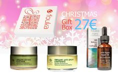 Face Lift Gift Set Antispot Lightening Organic Cream 50ml, 100% Βιολογικό Λάδι Αναδόμησης 30ml και Organic Oxygen Mask 50ml - Gift Box