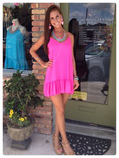 Pink Sassy Ruffle Dress, u go girl!!!