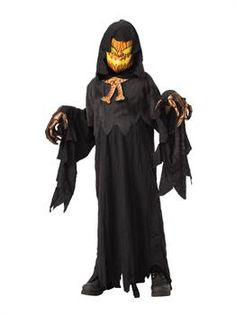 Halloween Boys' Possessed Pumpkin Head Halloween Costume L, Boy's, Size: Large, MultiColored Spooky Halloween Costumes, Halloween Eve, Jack O Lantern Costume, Pumpkin Head, Costume Collection, Velvet Fashion, Black Media, Adult Costumes, Winter