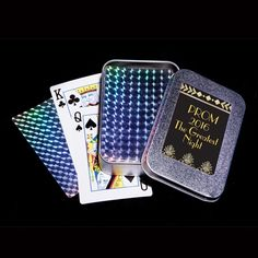 Foil Playing Card with Tin-Casino Prom Favor