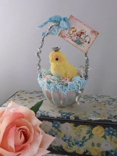 Repurposed Jello Mold Easter Basket Baby by MichelleLovesJunque, $15.00
