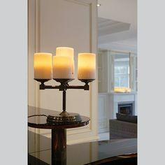 landelijke tafellamp kandelaar led 5 kaarsen