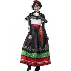 Disfraz de Catrina Mexicana para Mujer #Halloween #Catrina #Costume