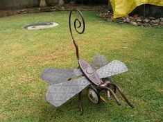 Image result for recycled metal garden art