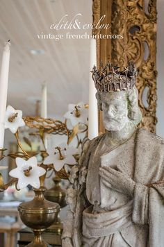 Antique St Joseph Statue Very Old Large Size by edithandevelyn