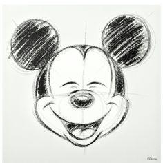 DISNEY Lienzo Mickey boceto blanco/negro 40 x 40 cm - Butlers Spanien