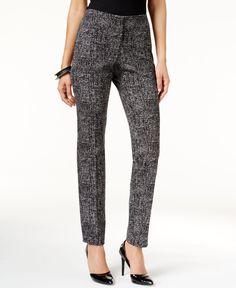 Alfani Prima Tweed Skinny Trousers, Only at Macy's