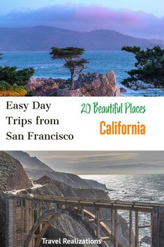 Easy Day Trips from San Francisco - Travel Realizations Places To Travel, Travel Destinations, Places To Visit, Gilroy Gardens, Cypress Tree Tunnel, Monterey Bay Aquarium, San Francisco Travel, Easy Day, California Travel