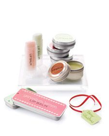 Spa-inspired presents, including these handmade lip balms, can be created from basic kitchen ingredients and craft materials.