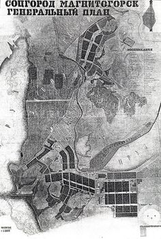 "Has ""Terror"" Been an Important Factor in Shaping Russian Cities?,Plan of Magnitogorsk. Image via New Town Institute"