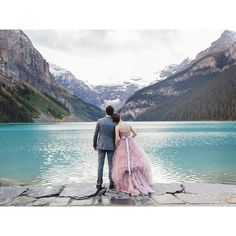 The Beauty that Lake Louise brings to brides and grooms! This was shot at…