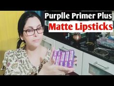 Purplle Primer Plus Matte Lipsticks/ Review , Hand Swatches || By Chhabi - YouTube