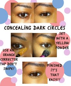 Color correct your dark circles! - Beauty By Lee *black women beauty tips*