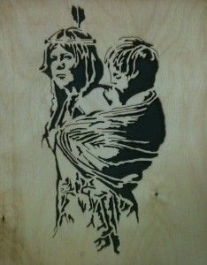 Squaw and Papoose scroll saw Fretwork Portrait Cutting Scroll Pattern, Scroll Saw Patterns, Native Art, Native American Art, Marilyn Monroe Stencil, Pyrography Designs, Wood Burning Patterns, Outline Drawings, Silhouette Art