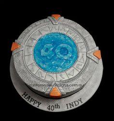 Stargate cake - taki chcę na urodzinyyyyyyyyyy :P
