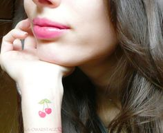 Kaowaii Stage: sweet lips & cherries tattoo