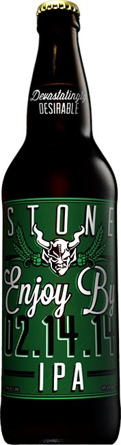 """Stone - Enjoy By IPA - There's no words for this beer! This is THE BEST IPA I have EVER had! This is a big boy from legendary brewery Stone. HUGE kudos for having the """"best by date"""" clearly on the bottle for retailers and consumers to plainly see! Brewing Co, Home Brewing, Stone Brewery, Stone Ipa, Vodka, Black Ipa, Malt Beer, Double Ipa, Alcohol"""