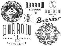 More artwork for Barrow Brewing Co. This exploratory also includes a cool new typeface
