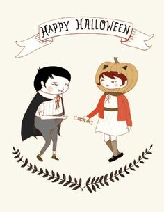 super cute free printable halloween card from Black Apple --great for a pumpkin carving party!