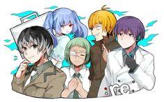 Tokyo Ghoul:RE || Haise Sasaki, Saiko Yobebashi, Urie Kuki, Shirazu Ginshi, Tooru Mutsuki
