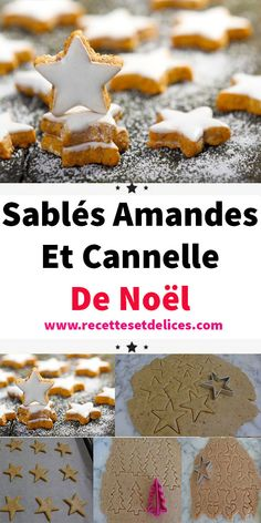 Sablés Amandes Et Cannelle De Noël In addition to the pleasure you will have in tasting them, you will have fun making them! For more fantasy do not hesitate to decorate them with relief imprint. Passover Desserts, Diabetic Desserts, Easy Desserts, Shortbread Biscuits, Biscuit Cookies, Easy Christmas Cookie Recipes, Christmas Baking, Noel Christmas, Christmas Cookies