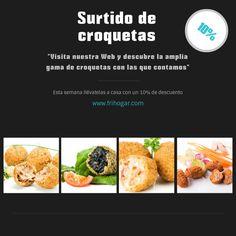 Suaves, finas, no podrás resistirte a nuestras croquetas ;)  http://www.frihogar.com/buscar?text=croquetas  #FelizMiercoles